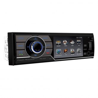 "Power Acoustik® - Single DIN DVD/VCD/MP3/MP4/WMA Stereo Receiver with Detachable 3.4"" Screen"