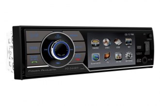 "Power Acoustik® - Single DIN DVD/MP3/USB/CD Receiver with 3.4"" Screen and Bluetooth"