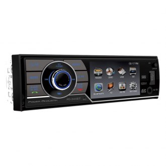 "Power Acoustik® - Single DIN DVD/AM/FM Receiver with 3.4"" LCD Monitor and Bluetooth"
