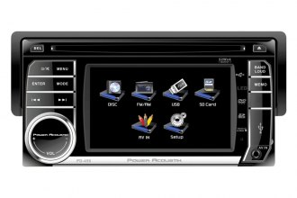 "Power Acoustik® - Single DIN CD/DVD/MP3 Stereo Receiver with Detachable 4.5"" Touch Screen"