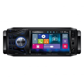 "Power Acoustik® - Single DIN DVD/CD/AM/FM/MP3/MP4 Receiver with Oversize 4.5"" Detachable Faceplate and Built-In Bluetooth"