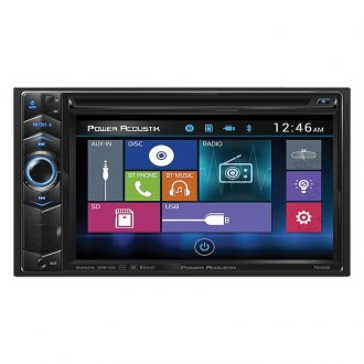 "Power Acoustik® - Double DIN DVD/CD/AM/FM/MP3/MP4 Receiver with 6.2"" LCD Touchscreen Monitor and Built-In Bluetooth"