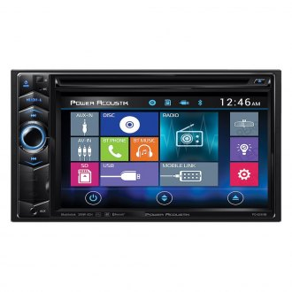 "Power Acoustik® - Double DIN DVD/CD/AM/FM/MP3/MP4 Stereo Receiver with 6.2"" LCD Display, Built-In Bluetooth and MHL MobileLink X1"