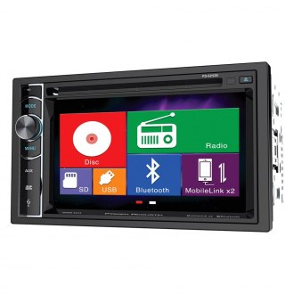 "Power Acoustik® - Double DIN DVD/CD/AM/FM/MP3/MP4 Stereo Receiver with 6.2"" LCD Display, Built-In Bluetooth and MHL MobileLink X2"