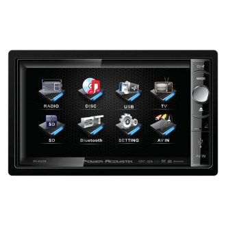 "Power Acoustik® - Double DIN DVD/MP3/AM/FM Stereo Receiver with Motorized 6.5"" Touchscreen"