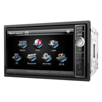 "Power Acoustik® - Double DIN DVD/CD/AM/FM/MP3/WMA/MP4 Receiver with 6.5"" Touchscreen Display and Built-In Bluetooth"