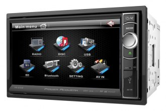 "Power Acoustik® - Double DIN Stereo Receiver with Motorized 6.5"" Touch Screen and Bluetooth"