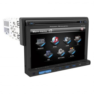 "Power Acoustik® - Single DIN DVD/CD/AM/FM/MP3/WMA Stereo Receiver with Detachable 7"" Touchscreen Monitor"