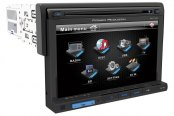 "Power Acoustik® - Double DIN Stereo Receiver with Detachable 7"" Touch Screen and Bluetooth"