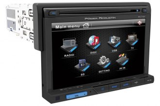 "Power Acoustik® - Single DIN USB/CD/MP3/DVD Stereo Receiver with Detachable 7"" Touch Screen and Bluetooth"