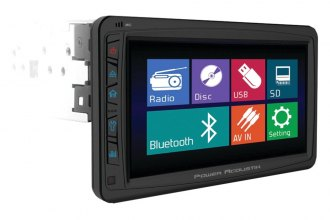 "Power Acoustik® - Single DIN USB/CD/MP3/DVD Stereo Receiver with Motorized Detachable 7"" Touch Screen"