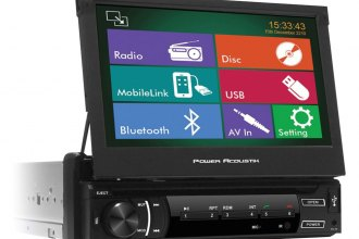 "Power Acoustik® - Single DIN USB/CD/MP3/DVD Stereo Receiver with 7"" Screen and Bluetooth"