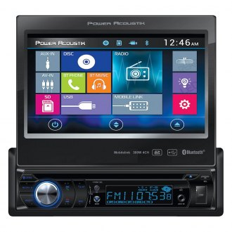 "Power Acoustik® - Single DIN DVD/CD/AM/FM/MP3/MP4 Stereo Receiver with 7"" Motorized LCD Display, Built-In Bluetooth and MHL MobileLink X1"