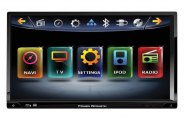 "Power Acoustik® - Double DIN Inteq Stereo Receiver with Detachable 7"" Screen"