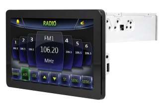 "Power Acoustik® - Single DIN DVD/MP3/USB Inteq Stereo Receiver with Detachable 9.3"" Touch Screen, Navigation and Bluetooth"