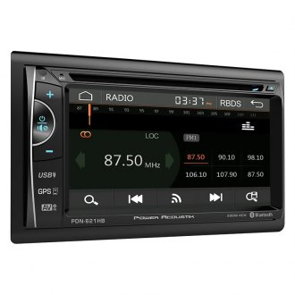 "Power Acoustik® - Double DIN DVD/CD/AM/FM/MP3/MP4 Receiver with 6.2"" LCD Touchscreen Monitor, Built-In Bluetooth and GPS Navigation"