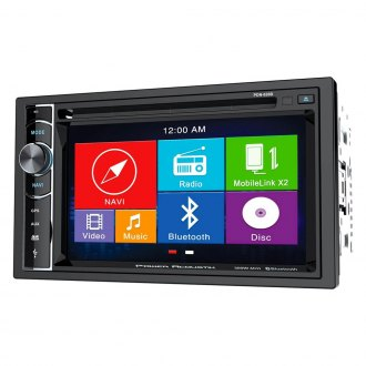 "Power Acoustik® - Double DIN DVD/CD/AM/FM/MP3 Stereo Receiver with 6.2"" LCD Display, Built-In Bluetooth and GPS Navigation"