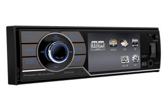 "Power Acoustik® - Single DIN MP3/WMA/USB Mechless Stereo Receiver with Detachable 3.4"" LCD Screen"