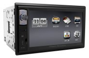 "Power Acoustik® - Double DIN Mechless Stereo Receiver with Detachable 6.5"" HD Touch Screen"