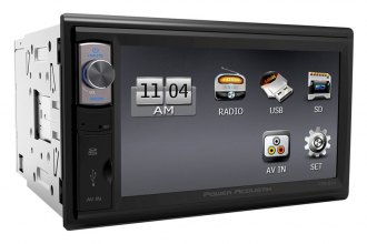 "Power Acoustik® - Double DIN Mechless Stereo Receiver with 6.5"" HD Touch Screen"