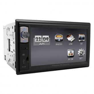"Power Acoustik® - Double DIN AM/FM/MP3/WMA Mechless Stereo Receiver with 6.5"" HD Touchscreen Monitor and Built-In Bluetooth"