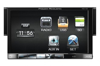 "Power Acoustik® - Single DIN USB/SD/MP3 Mechless Stereo Receiver with Detachable 7"" HD Touch Screen"