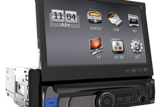 "Power Acoustik® - Single DIN USB/SD/MP3 Mechless Stereo Receiver with Flip-Up 7"" HD Touch Screen"
