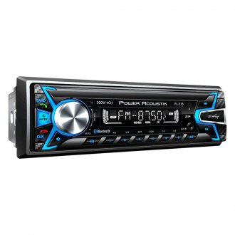 Power Acoustik® - Single DIN AM/FM/MP3/MP4 Mechless Stereo Receiver with Built-In Bluetooth and Detachable Faceplate