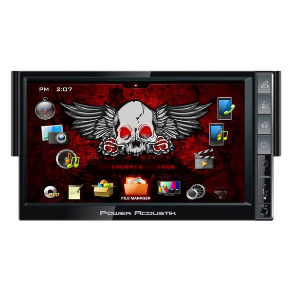 "Power Acoustik® - Single DIN INGENIX Stereo Receiver with Detachable 7"" Touch Screen"