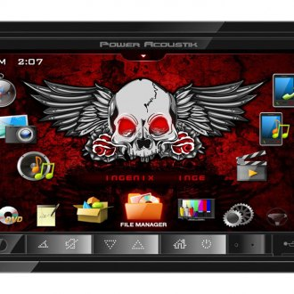 "Power Acoustik® - Double DIN AM/FM/DVD/MP3/USB INGENIX Stereo Receiver with 7"" Touch Screen"