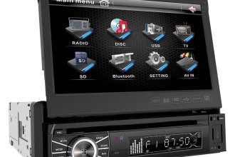 "Power Acoustik® - Single DIN DVD/MP3/DivX Stereo Receiver with Flip-Up 7"" Touch Screen"