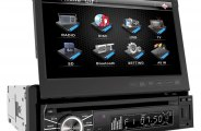 "Power Acoustik® - Single DIN Stereo Receiver with Flip-Up 7"" Touch Screen"