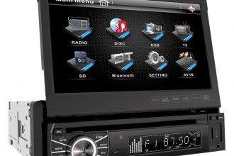 "Power Acoustik® - Single DIN DVD/MP3/DivX Stereo Receiver with Flip-Up 7"" Touch Screen and Bluetooth"