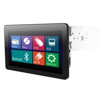 "Power Acoustik® - Single DIN AM/FM/DVD/MP3/USB Farenheit Motorized Source Unit with 10.3"" Screen"