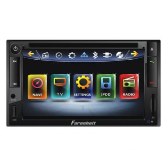 "Power Acoustik® - Double-DIN AM/FM/DVD/MP3/USB Farenheit Motorized Source Unit with 6.5"" LCD Monitor"