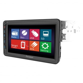 "Power Acoustik® - Single DIN DVD/CD/AM/FM/MP3/WMA Receiver with 7"" Motorized, LCD Touchscreen Monitor and Bluetooth"