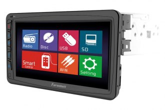 "Power Acoustik® - Double DIN DVD/MP3/CD/SD Receiver with 7"" Touchscreen, LCD Monitor and Bluetooth"