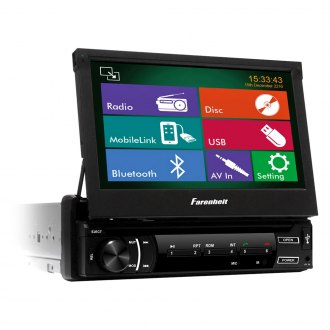"Power Acoustik® - Single DIN AM/FM/DVD/USB/SD Receiver with 7"" Touchscreen, LCD Monitor and Bluetooth"