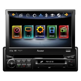 "Power Acoustik® - Single DIN AM/FM/DVD/MP3/USB Farenheit Motorized Source Unit with 6.5"" LCD Monitor"