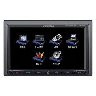"Power Acoustik® - Double DIN AM/FM/DVD/MP3/USB/SD Farenheit Receiver with 7"" Touchscreen"