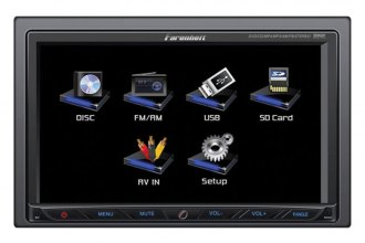 "Power Acoustik® - Farenheit 7"" Double DIN Receiver Touchscreen  USB/SD 3.5 Aux."
