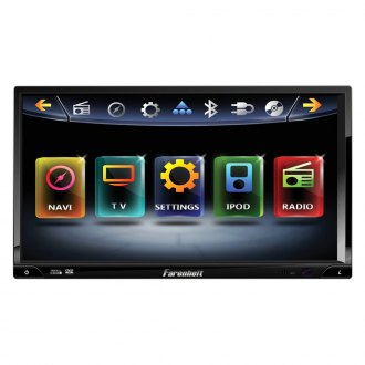 "Power Acoustik® - Double DIN DVD/MP3/CD/AM/FM Farenheit Receiver with 7"" TFT Touchscreen Monitor and Built-In Bluetooth"