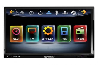 "Power Acoustik® - Double DIN DVD/MP3/CD/AM/FM Receiver with 7"" TFT Touchscreen Monitor and Built-In Bluetooth"