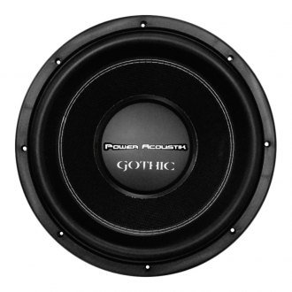 "Power Acoustik® - 12"" Gothic Series 2500W 2 Ohm DVC Subwoofer"