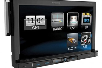 "Power Acoustik® - Single DIN Farenheit MP3/AM/FM Receiver with 7"" Hang Down LCD Touchscreen"