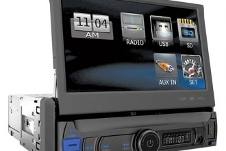 "Power Acoustik® - Single DIN Farenheit MP3/AM/FM Receiver with 7"" Flip-Up LCD Touchscreen"