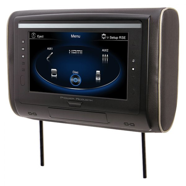 "Power Acoustik® - 9"" Headrest LCD Monitor with 3 Interchangeable Covers"