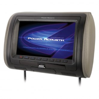 "Power Acoustik® - 7"" Headrest LCD Monitor with Built-In DVD Player, IR/FM Transmitter and 3 Interchangeable Covers"
