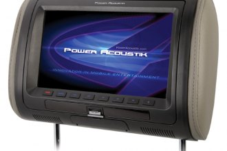 "Power Acoustik® - 7"" Headrest LCD Monitor with Built-In DVD Player and 3 Interchangeable Covers"