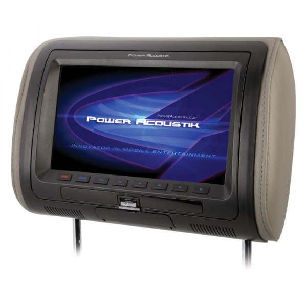 "Power Acoustik® - Headrest with 9"" LCD Monitor with Built-In DVD Player"
